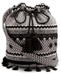 Dodo Bar Or Kashi Jacquard Bucket Bag - Black