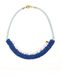 Lucy Folk - Pearler Pearl And Crochet Necklace - Lyst
