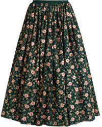 Ashish Floral Embroidered Skirt - Green