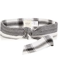 Cecilie Copenhagen - Scarf-jacquard Cotton Belt - Lyst