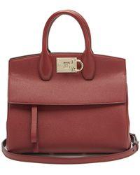 Ferragamo The Studio Grained-leather Bag - Multicolour