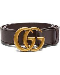 Gucci - GG レザーベルト - Lyst