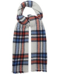 Isabel Marant - Suzanne Checked Wool Blend Scarf - Lyst