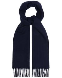 Lanvin Fringed Wool Scarf - Blue