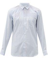 Comme des Garçons - Comme Des Garçons Shirt パッチワーク コットンポプリンシャツ - Lyst
