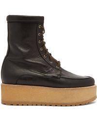 Gabriela Hearst - David Flatform Leather Boots - Lyst