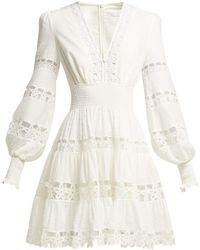 Zimmermann - Primrose Daisy Cotton Mini Dress - Lyst