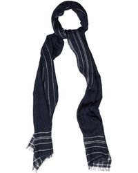 Dunhill - Striped-frame Wool-blend Scarf - Lyst