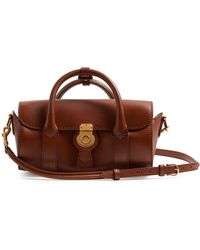 Burberry Trench Small Textured-leather Barrel Bag - Brown
