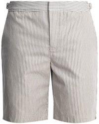 Orlebar Brown - Dane Ii Striped Mid-length Shorts - Lyst