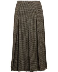 The Row - Odell Houndstooth Wool Blend Skirt - Lyst