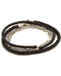 Title Of Work Leather And Sterling-silver Wrap Bracelet - Metallic