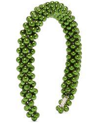 Shrimps Antonia Faux-pearl Headband - Green