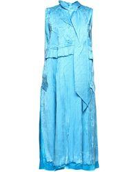 Balenciaga サテンミディドレス - ブルー