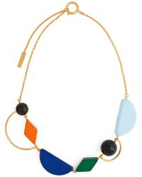 Marni - Geometric Resin And Metal Necklace - Lyst