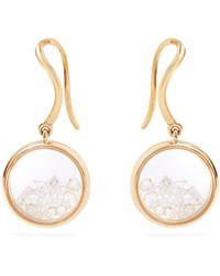 Aurelie Bidermann - Diamond & Yellow-gold Earrings - Lyst