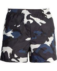 Valentino - Short de bain à imprimé camouflage - Lyst