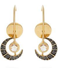 Ara Vartanian | X Kate Moss Diamond & Gold Earrings | Lyst