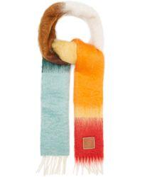 Loewe Logo-tab Gradient Fringed Scarf - Multicolour