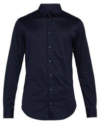 Giorgio Armani - Diamond-flocked Cotton Shirt - Lyst
