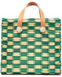 Heimat Atlantica Tom Tom Large Tote Basket Bag - Green