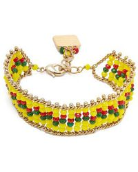 Rosantica By Michela Panero - Striped Beaded Bracelet - Lyst