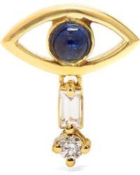 Ileana Makri Diamond, Sapphire & Yellow-gold Earring - Metallic