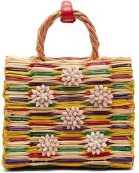 Heimat Atlantica - Chito Seashell Embellished Basket Bag - Lyst