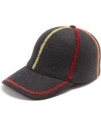 Comme des Garçons - Embroidered Wool Cap - Lyst