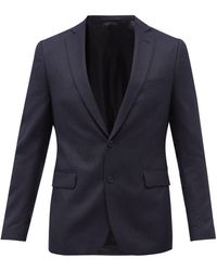 Officine Generale Officine Générale 375 ストライプ ウール スーツジャケット - ブルー