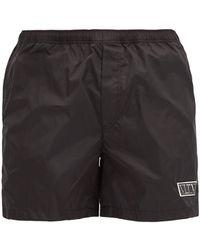 Valentino - Vltn-patch Shell Swim Shorts - Lyst