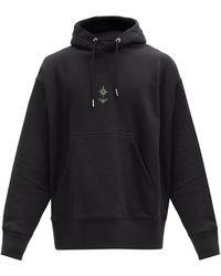 Givenchy エンブロイダリー コットンスウェットパーカー - ブラック