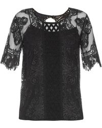 Burberry Prorsum Round-neck Contrast-lace Top
