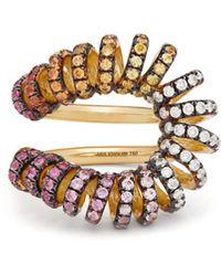 Ana Khouri Bague en or 18 carats, saphirs et diamants Maia - Multicolore