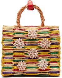 Heimat Atlantica - Chito Seashell-embellished Basket Bag - Lyst