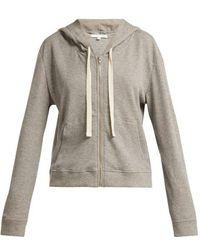 Skin - Emma Waffle-knit Cotton-blend Hooded Sweatshirt - Lyst