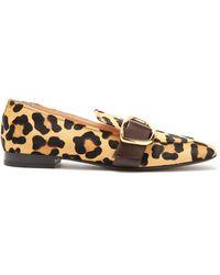 Rupert Sanderson Charmer Leopard-print Calf-hair Loafers - Brown