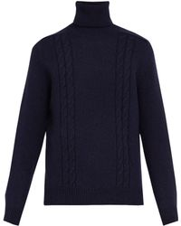 Gucci - Gg Embroidered Wool Blend Roll Neck Jumper - Lyst