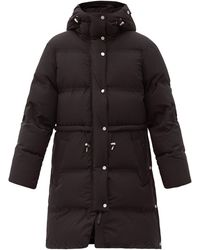 Aztech Mountain Galena Hooded Quilted Down Coat - Black