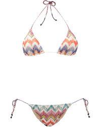 Missoni Chevron-stripe Triangle Bikini - Multicolor