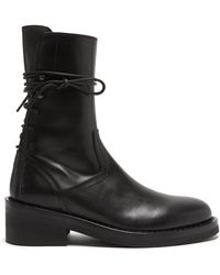 Ann Demeulemeester Buckled-strap Knee-high Leather Boots - Black
