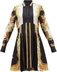 Versace バロック シルクシャツドレス - マルチカラー