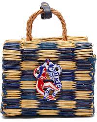 Heimat Atlantica Tom Tom Mini Basket Bag - Blue