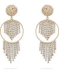 Rosantica By Michela Panero - Strobo Crystal Embellished Hoop Earrings - Lyst