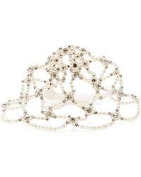Simone Rocha - Casquette à ornements façon perle et cristaux - Lyst