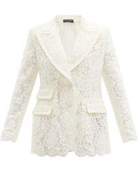 Dolce & Gabbana コルドネットレース シングルジャケット - マルチカラー