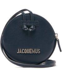 Jacquemus Pitchou Mini Leather Cross-body Bag - Blue
