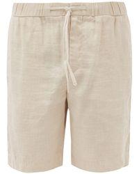 Frescobol Carioca Drawstring Linen-blend Shorts - Natural