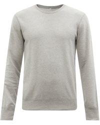 Reigning Champ Sweat-shirt col ras du cou en coton éponge - Gris