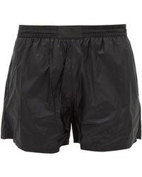 Prada Appliqué Logo Patch Ripstop Swim Shorts - Black